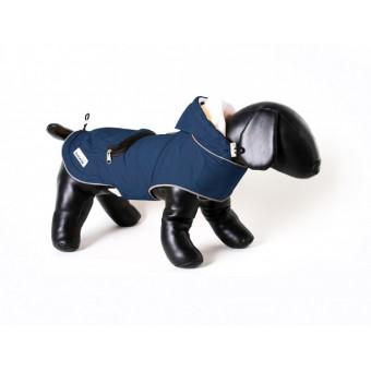 Doodlebone Mac-in-a-Pack regenjas voor honden Blauw