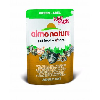 Almo Nature Green Label Raw Pack Kippenborst & eendenfilet