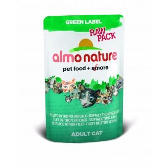 Almo Nature Green Label Raw Pack SkipJack Tonijnfilet