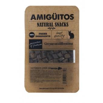 Amiguitos Catsnack Varkenslever (kip & vis)
