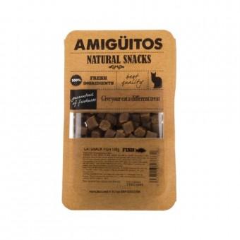 Amiguitos Catsnack Vis (rund, kip, varken)