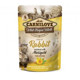 Carnilove Kat Pouch Kip & Konijn met Goudsbloem