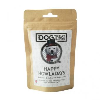 Dog Treat Company Kerst Happy Howlaydays Kippenlever, sinaasappel, appel, citroen & tijm