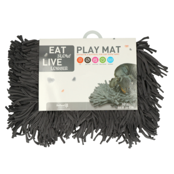 Eat Slow Live Longer Play Mat (Snuffelmat) Grijs
