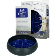Eat Slow Live Longer Tumble Feeder Blauw