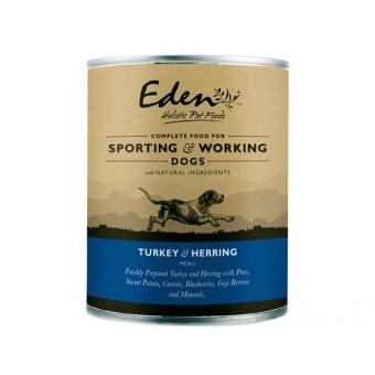 Eden Dog Wet Turkey & Herring (for sporting & working dogs)