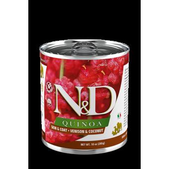 Farmina N&D Quinoa Natvoer Skin & Coat Hert, Quinoa & Kokos