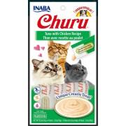 Inaba Kat Churu Puree Tonijn met Kip