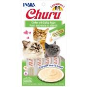 Inaba Kat Churu Puree Kip met Sint-Jacobsschelp