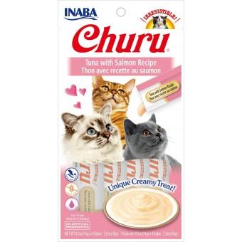 Inaba Kat Churu Puree Tonijn met Zalm