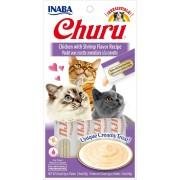 Inaba Kat Churu Puree Kip met Garnaal