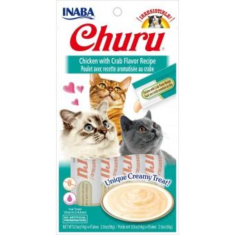 Inaba Kat Churu Puree Kip met Krab
