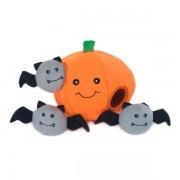 Zippy Paws Halloween Burrow Pumpkin with Bats